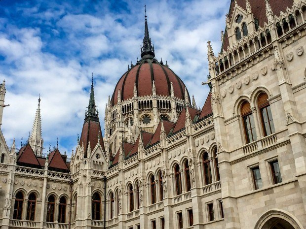 One of the highlights of visiting Budapest:  The Hungarian Parliament Building.