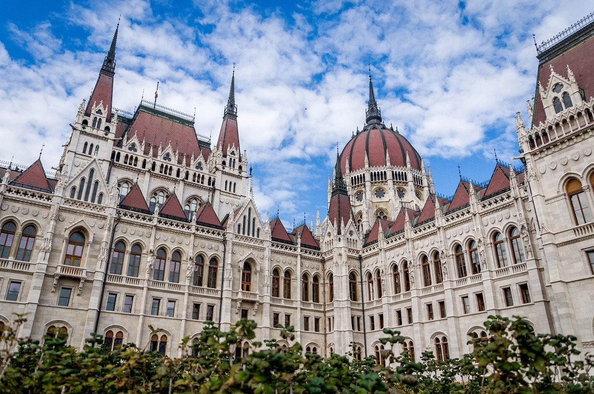 Seeing The Hungarian Parliament Building while visiting Budapest.