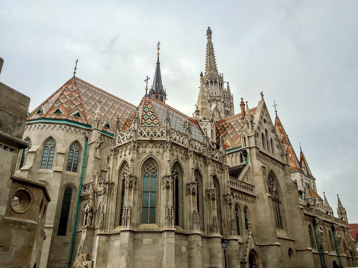 The St. Matthias Church on Castle Hill in Budapest.