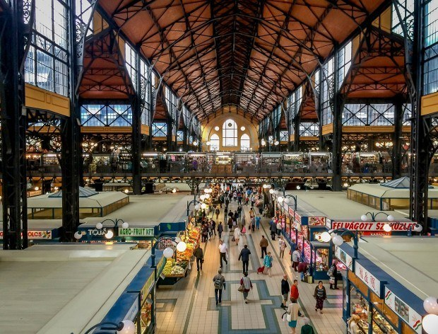When visiting Budapest, don't miss the city's grand Central Market.