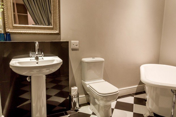 The bathroom at the Long Street Boutique Hotel in Cape Town, South Africa.