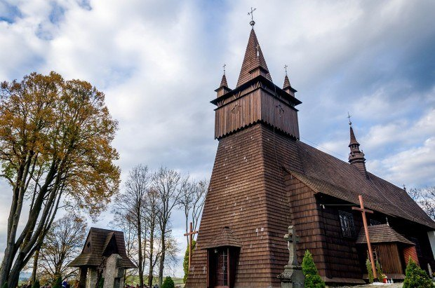The wooden church of John the Baptist in Orawka, part of Lesser Poland.
