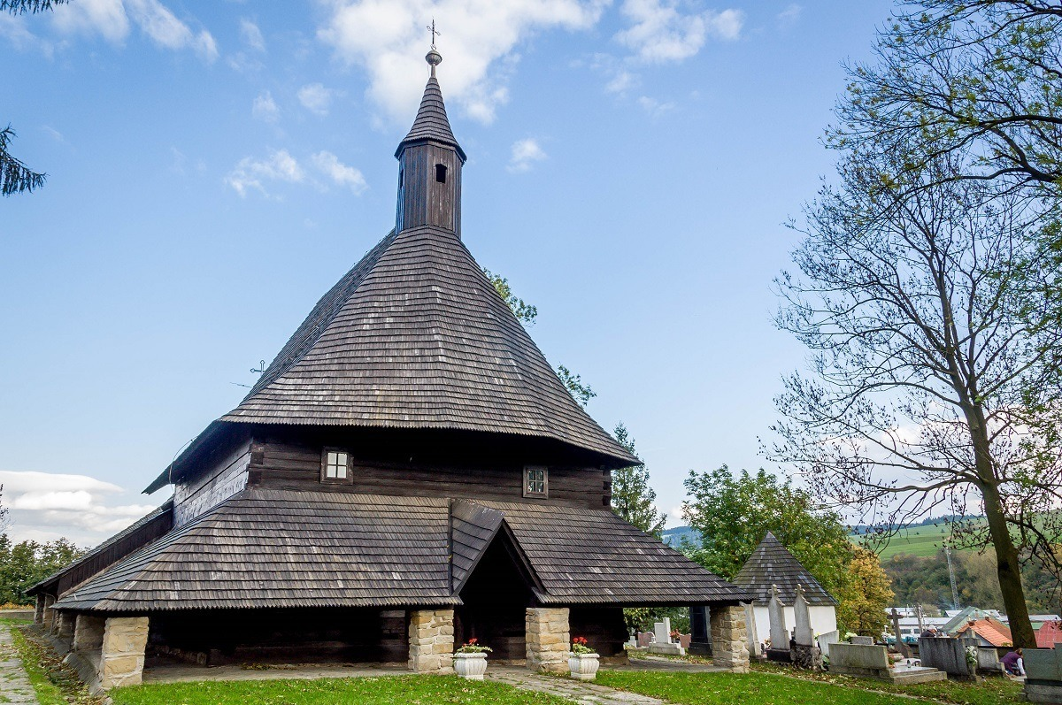 The Church of All Saints in Tvrdosin - one of the Slovakia Wooden Churches.