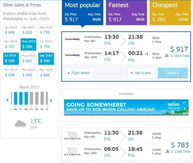 With Amadeus.net, you can create unique flight combinations and then price out those options.