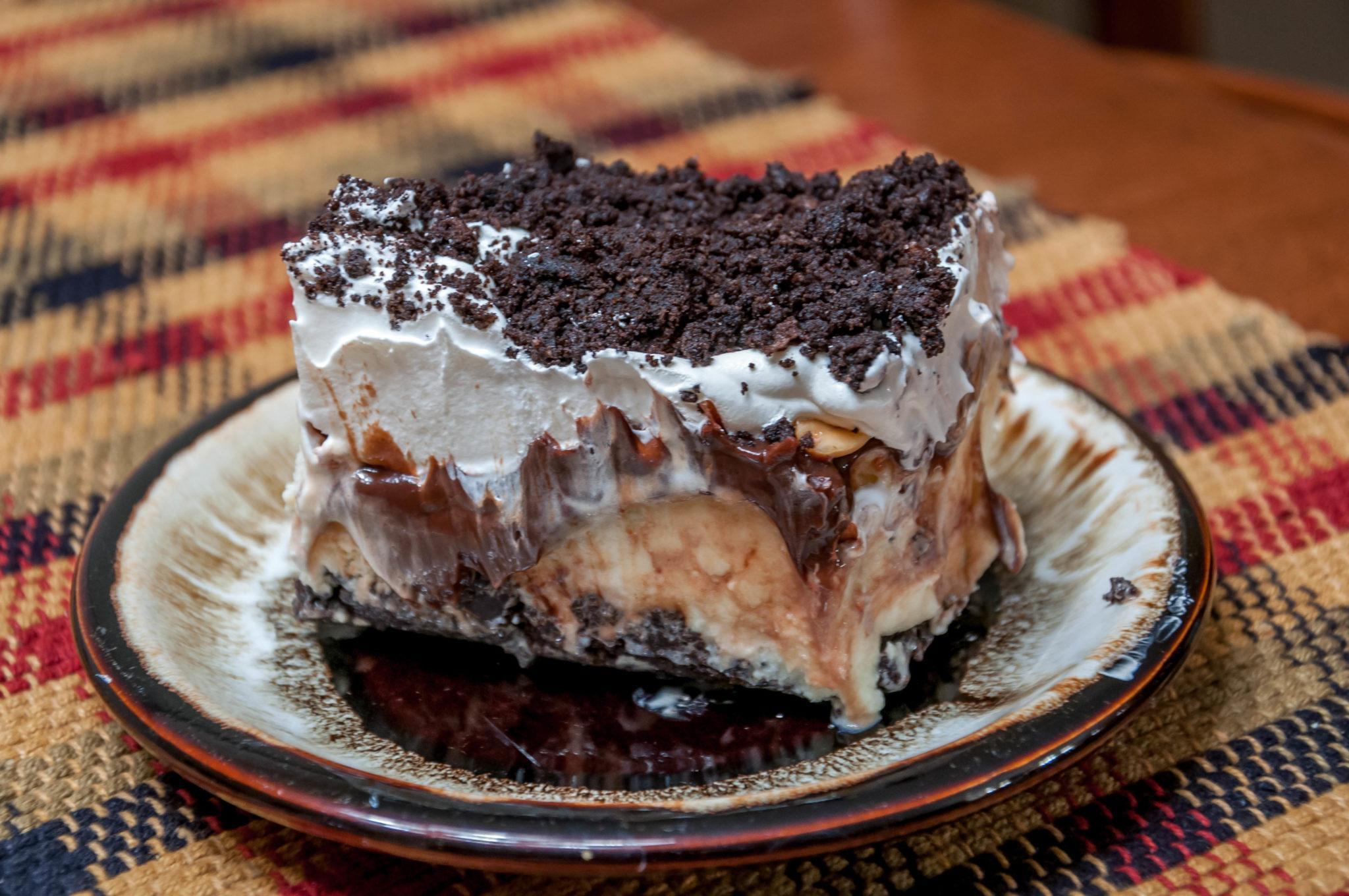 The Buster Bar dessert on plate