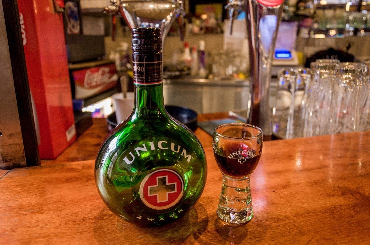 Since 1790, Unicum has been the national drink of Hungary.  It's 40 herbs & spices give it a medicinal quality.