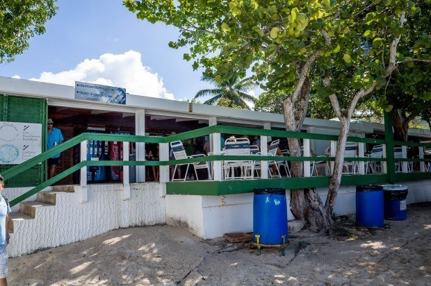 The concession stand at Magens Bay Beach on St. Thomas.