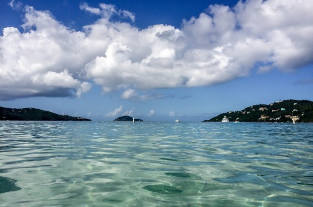 The view from Magens Bay Beach.