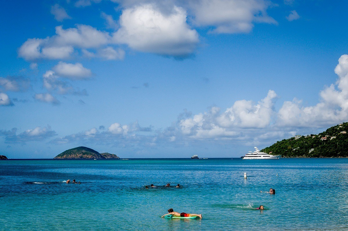 The beautiful blue waters of Magens Bay, St. Thomas.  It is close to paradise.