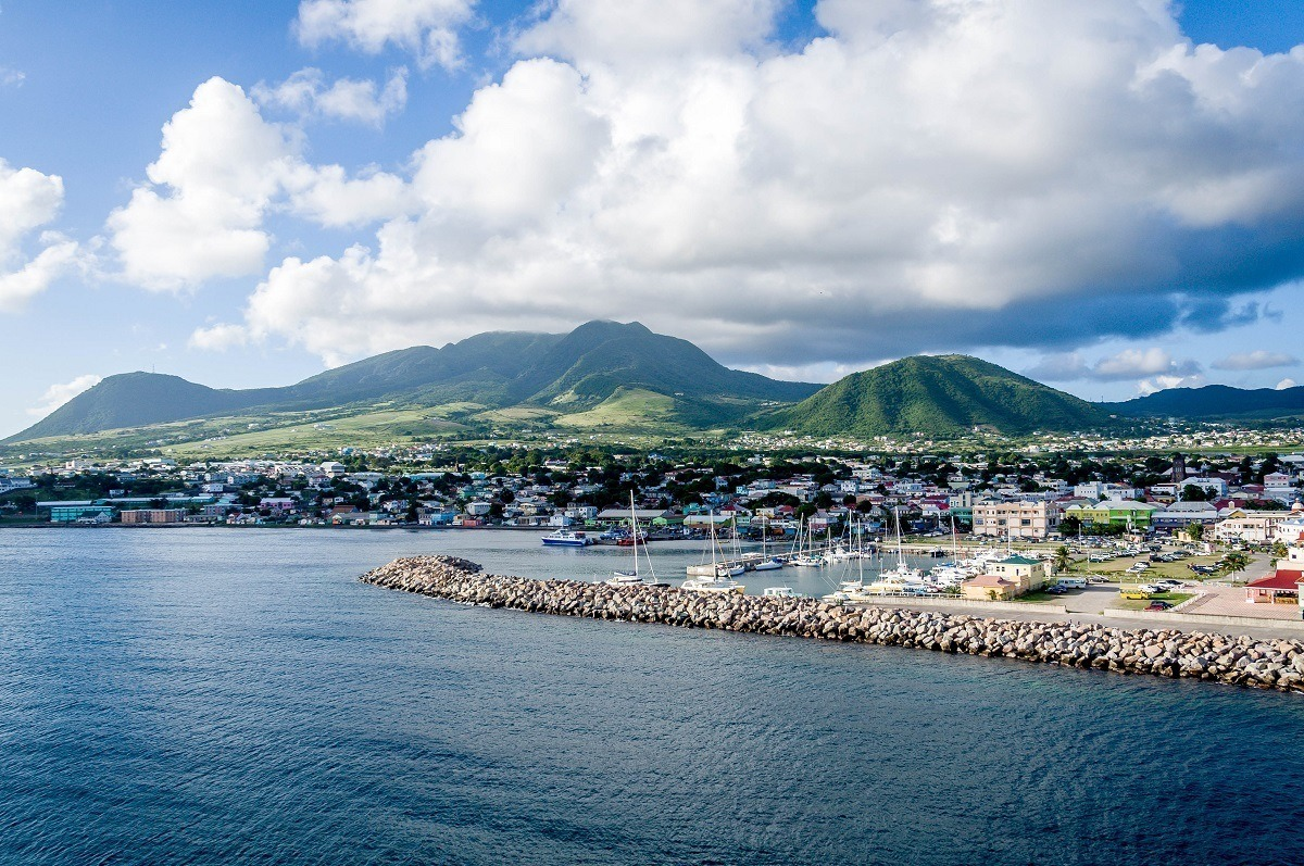 The port of Basseterre St Kitts is the capital city of St. Kitts and Nevis.