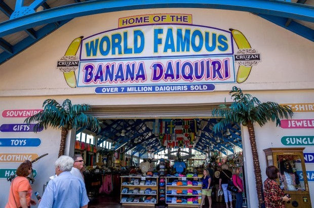 Home of the World Famous Banana Daiquiri St Thomas:  Mountain Top. Part gift shop, part bar, the Mountain top St Thomas is all kinds of craziness.