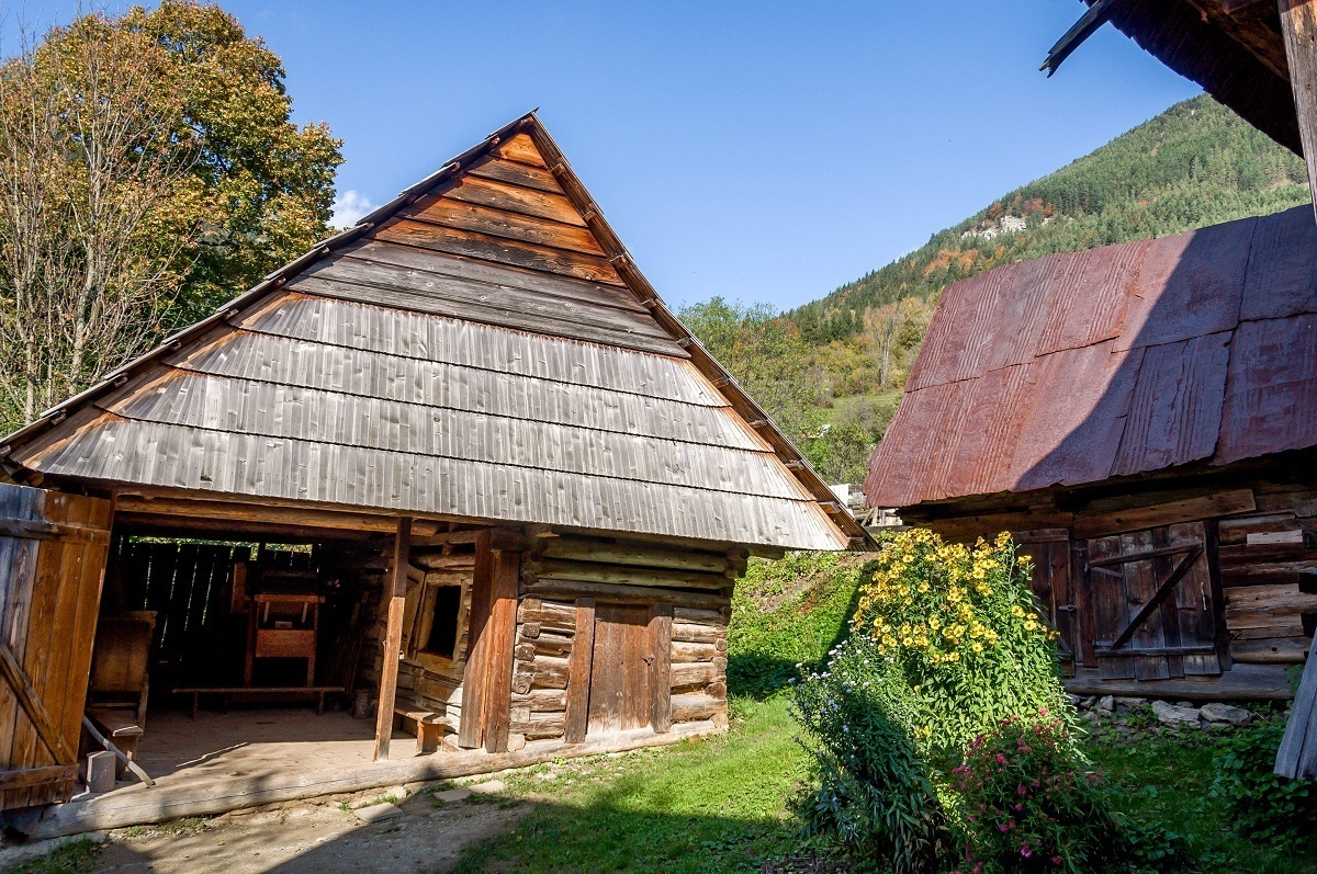 A barn in a traditional village
