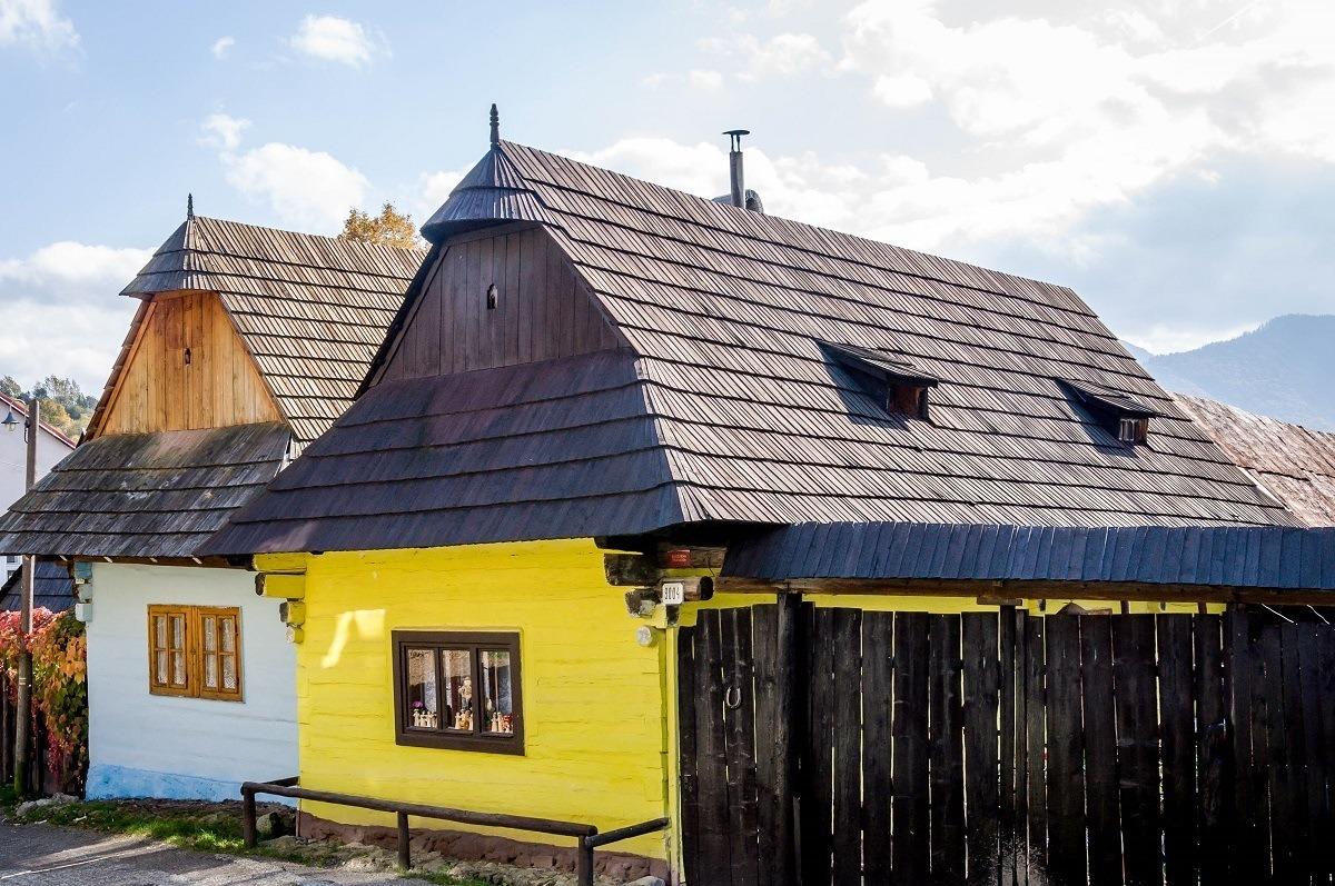 Homes in the village of Vlkolinec