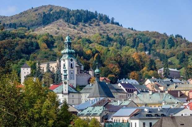 UNESCO Sites Slovakia:  The hilly town of Banska Stiavnica sits within the caldera of a dormant volcano.