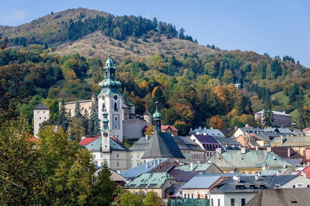 UNESCO Sites Slovakia:  The hilly town of Banska Stiavnica sits within the caldera of a dormant volcano - often called the Carpathian Crescent.