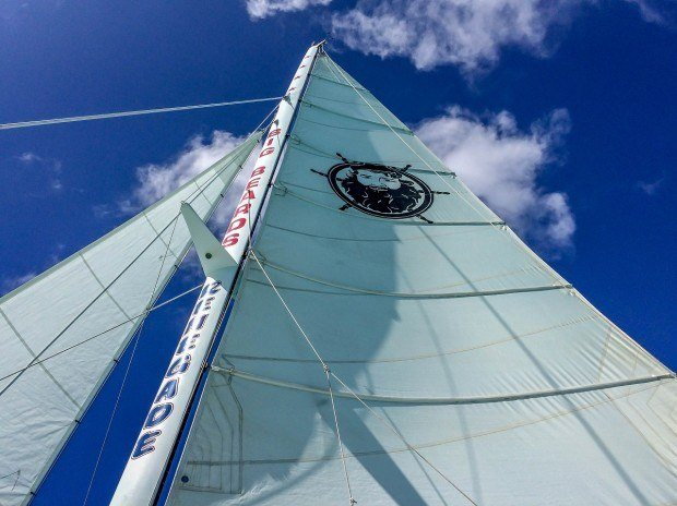 The sail on the Renegade with Big Beards St Croix in the US Virgin Islands.