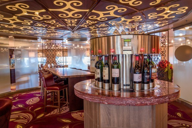 At the Cellar Masters bar on the Celebrity Summit, you can sample fine wines from around the world.