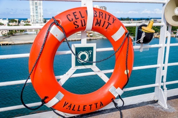 The life ring on the Celebrity Summit cruise ship.