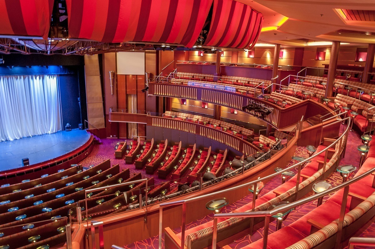Theater seating and stage aboard the Celebrity Summit cruise ship