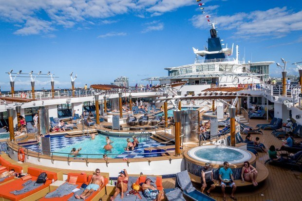 In our Celebrity Summit review, we would give the ship's pools top marks, particularly the Solarium Pool.