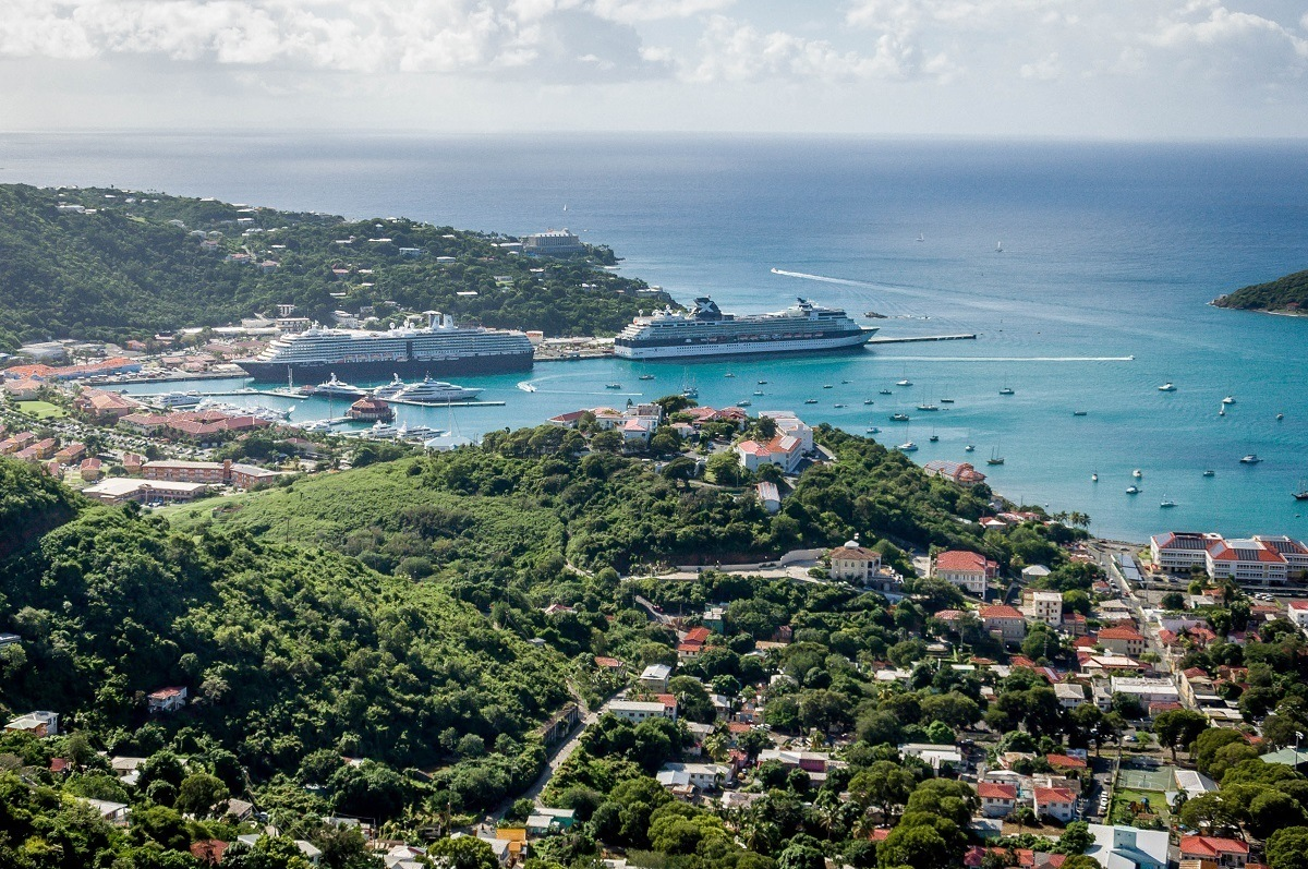 The Celebrity Summit at port in Charlotte Amalie, St. Thomas, U.S. Virgin Islands.