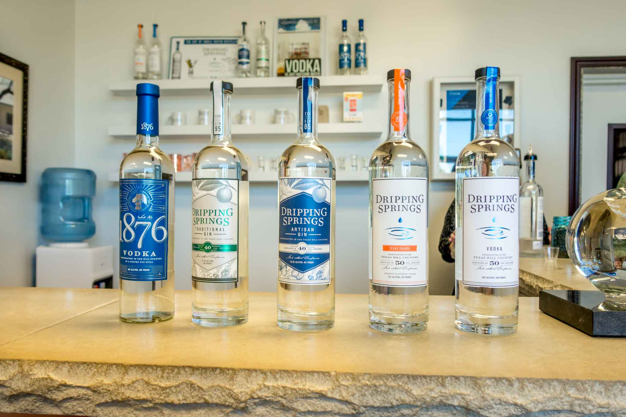 Dripping Springs vodkas and gins from Dripping Springs, Texas