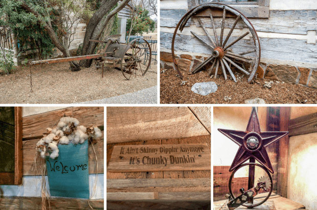 Decorations at the Cotton Gin Village