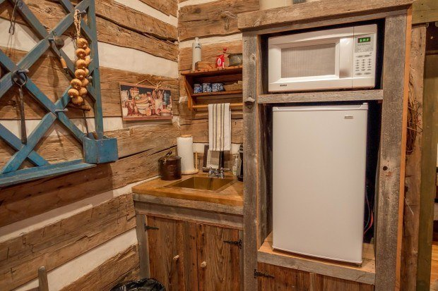 Kitchenette at the Cotton Gin Village