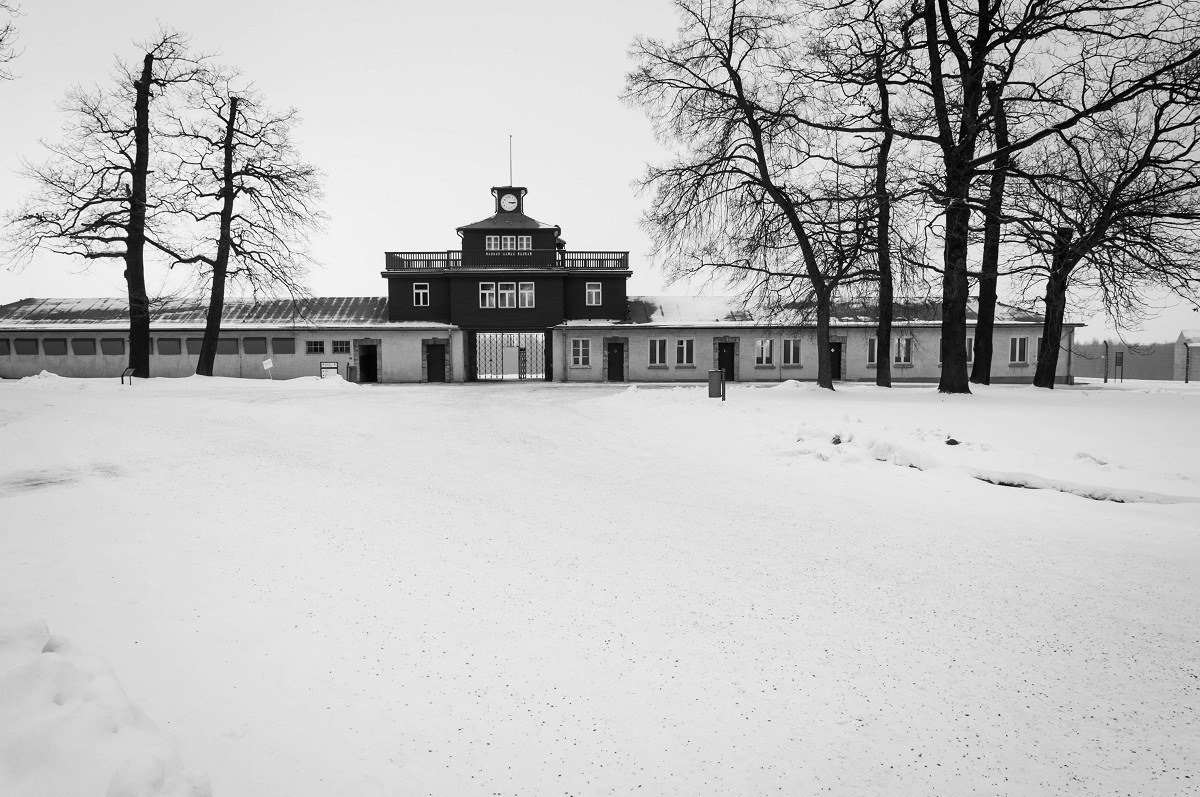 The Buchenwald Concentration Camp above Weimar, Germany