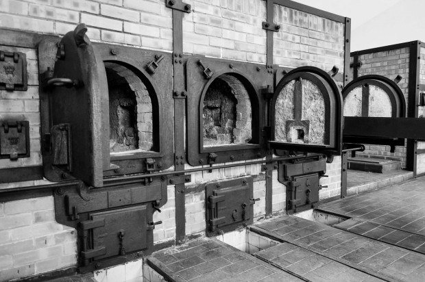 The crematory ovens at the Buchenwald Memorial Camp.