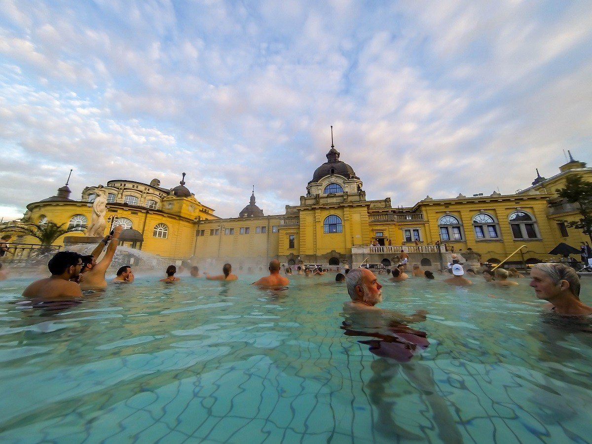 Don't forget to bring your waterproof camera to the Budapest thermal baths!