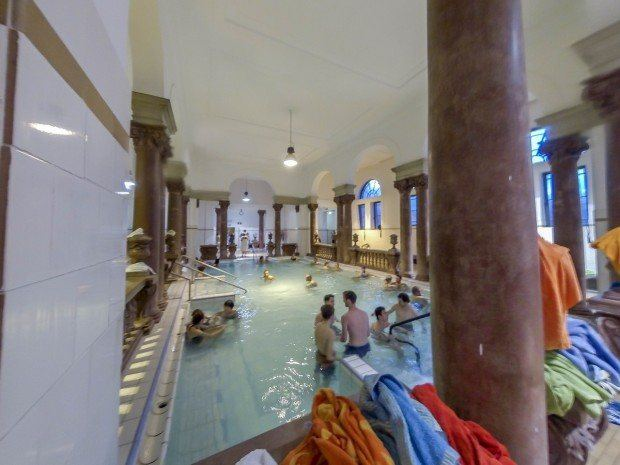 Bringing your own towel to the Budapest thermal baths will decrease the chances it will get mistaken someone.