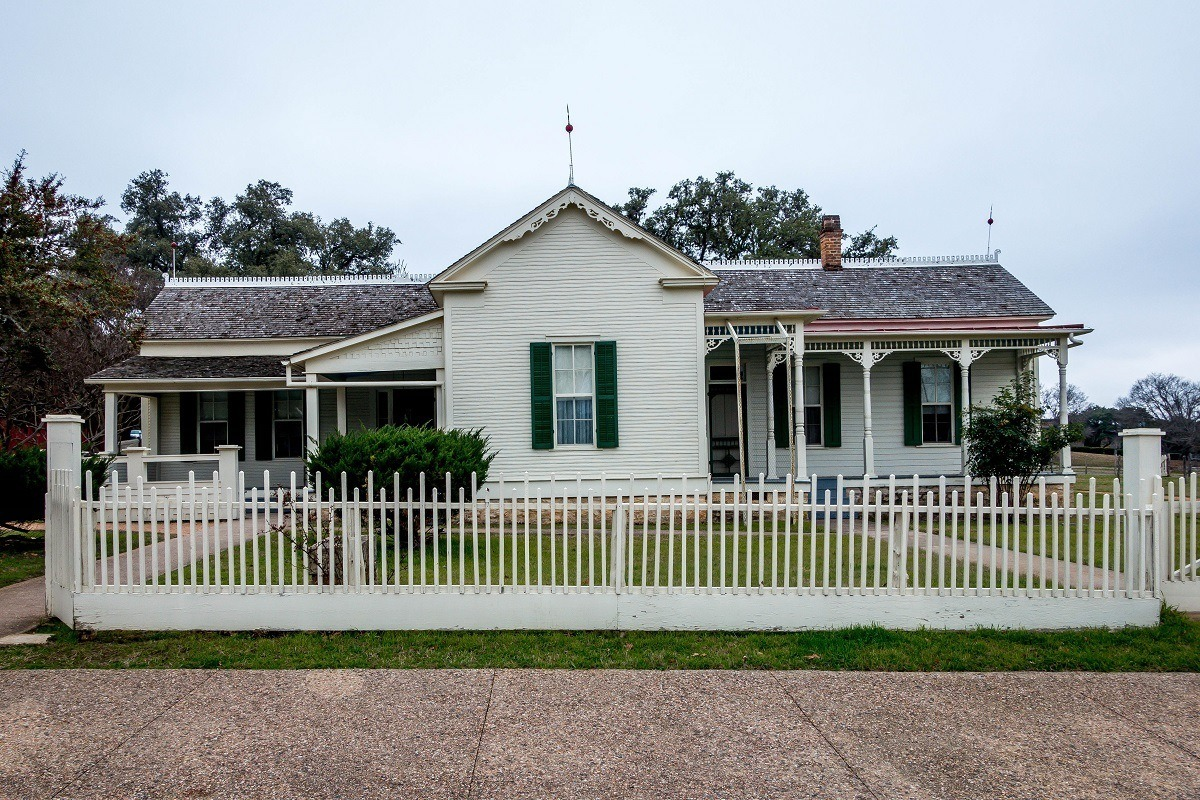 LBJ's Boyhood home in Johnson City, Texas