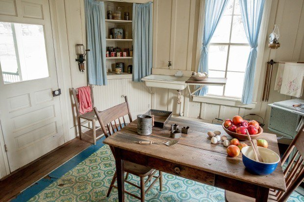 Kitchen of LBJ's boyhood home in Johnson City, Texas