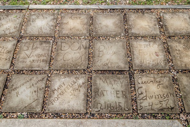 Stones signed by the Rockefellers and Billy Graham at LB Johnson Ranch Texas