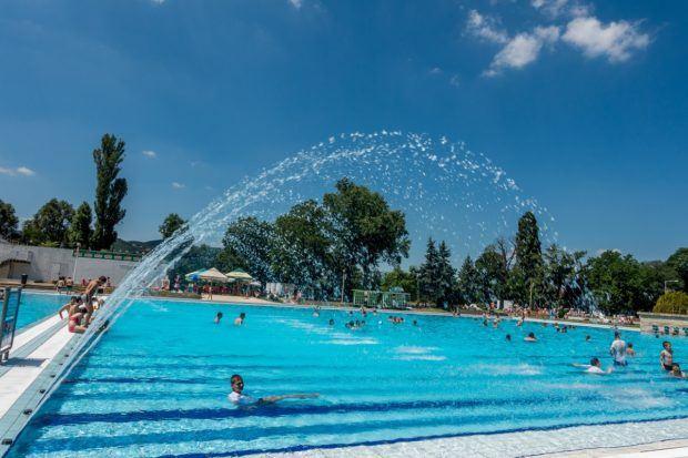 Pool at Palatinus Strand in Budapest, Hungary