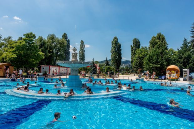 Dipping into the budapest thermal baths travel addicts - Margaret island budapest swimming pool ...