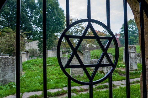 A cemetery in the Jewish ghetto of Krakow.