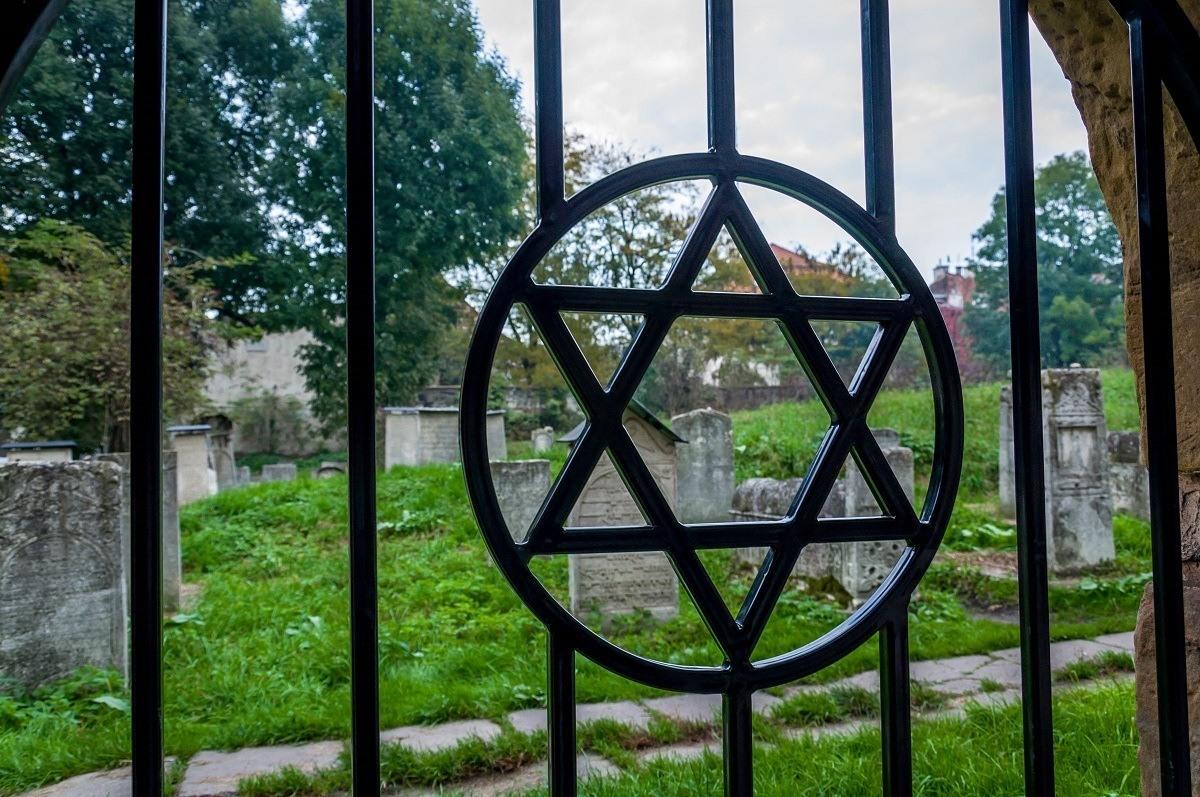 A cemetery in the Jewish ghetto of Krakow.
