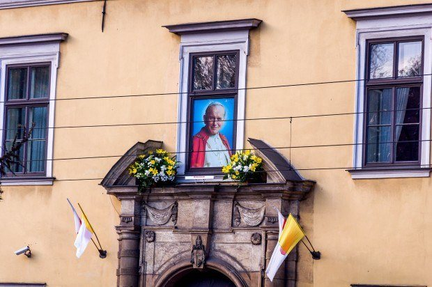 A highlight on our Krakow walking tour was Pope John Paul II's residence.