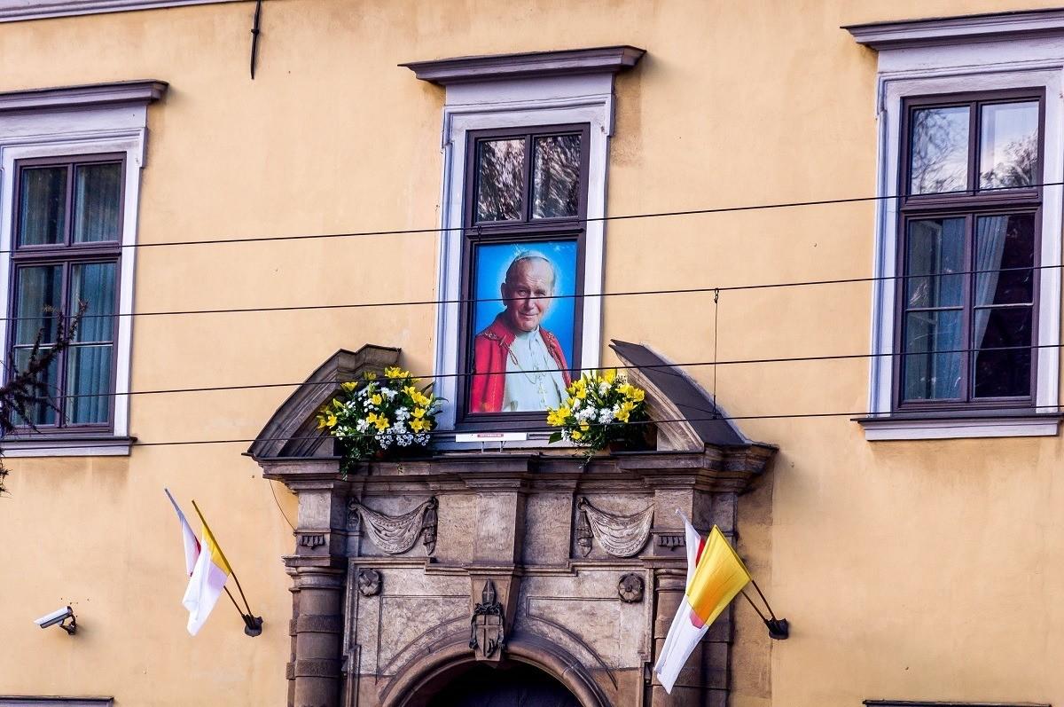 A highlight on our Krakow walking tour was Pope John Paul II's residence.
