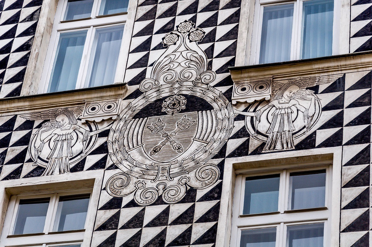 During our Krakow walking tour, we encountered this beautifully decorated building on Florianska Street in the Old Town.