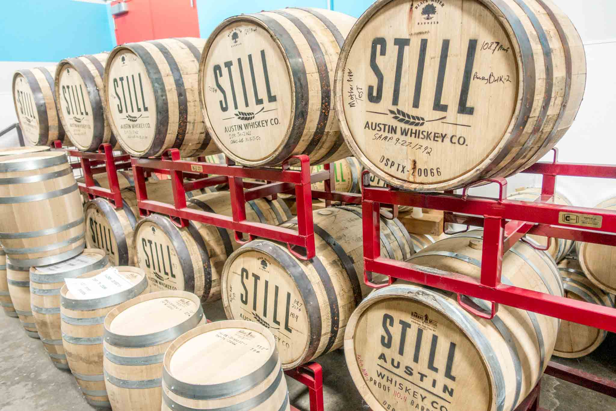 Barreled whiskeys at Still Austin