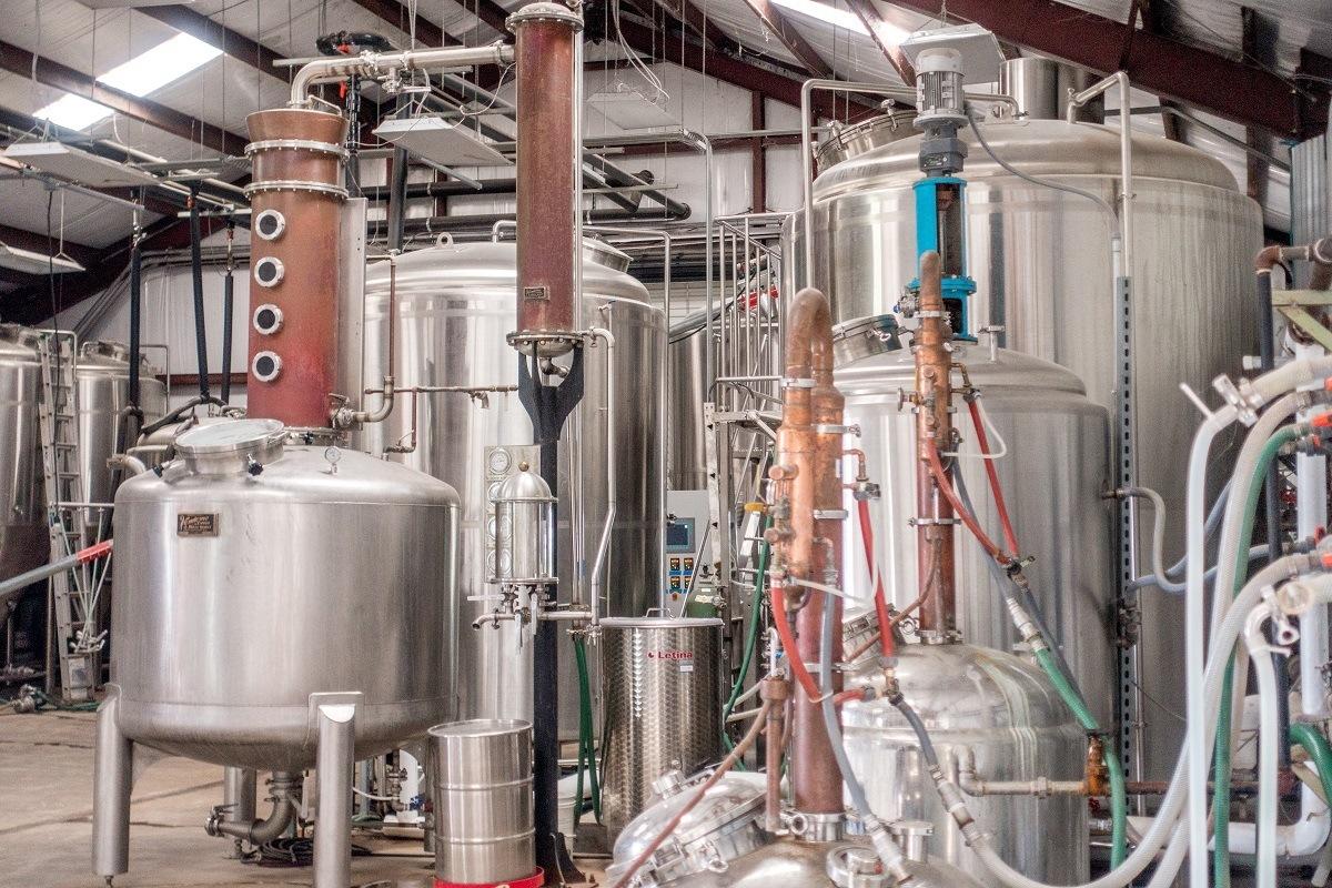 Treaty Oak distillery stills for Texas whiskey and gin