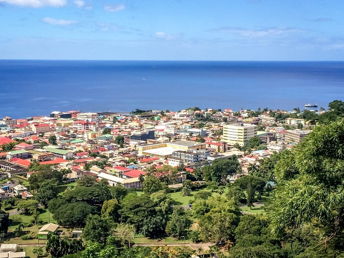Roseau, Dominica from the Morne Bruce Viewpoint.