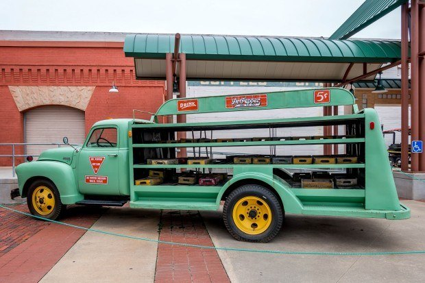 Dr Pepper delivery truck at the Dr Pepper museum Waco, Texas