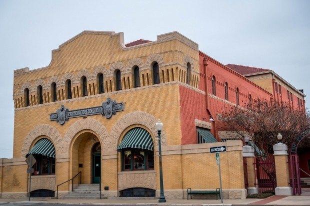 Red-brick Dr Pepper Museum Waco, Texas
