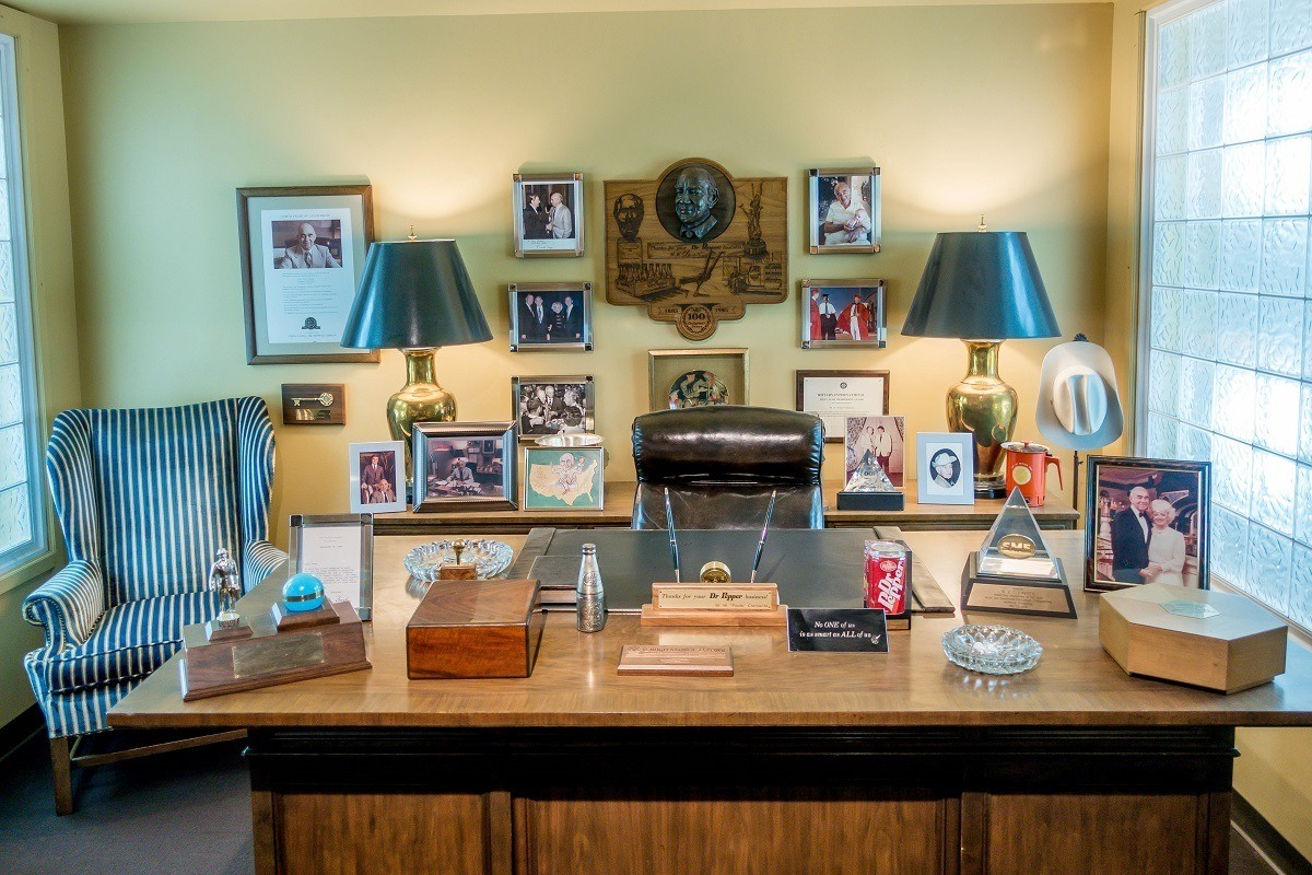 Desk belonging to Foots Clements at the Dr Pepper museum in Waco
