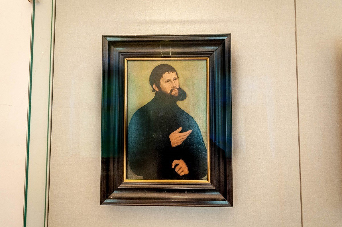 Painting of Martin Luther in disguise as Junker Jörg by Lucas Cranach the Elder