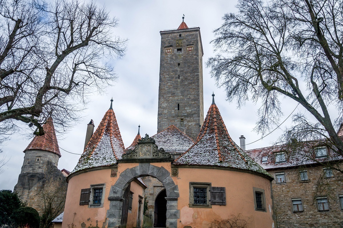 The Castle Gate in Rothenburg, Germany.